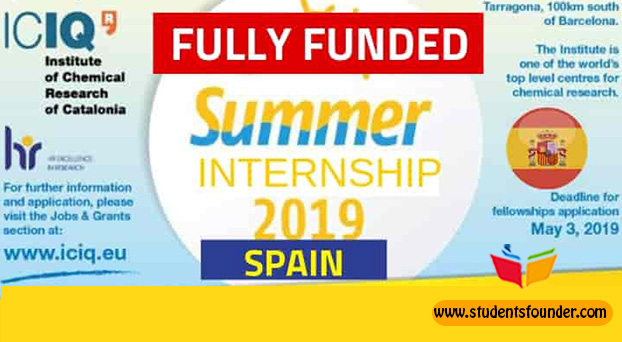 ICIQ SUMMER INTERNSHIP PROGRAMME 2019 IN SPAIN – FULLY FUNDED