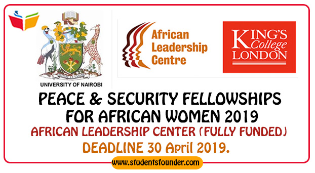 PEACE-&-SECURITY-FELLOWSHIPS-FOR-AFRICAN-WOMEN-2019