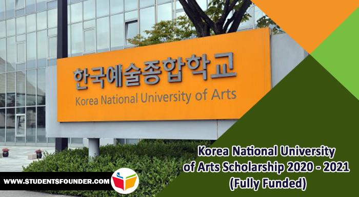 Korea National University of Arts Scholarship 2021 (Fully Funded)
