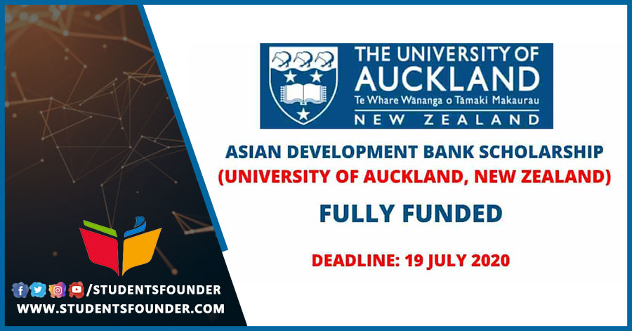 New Zealand's Asian Development Bank Scholarship for the Year 2021