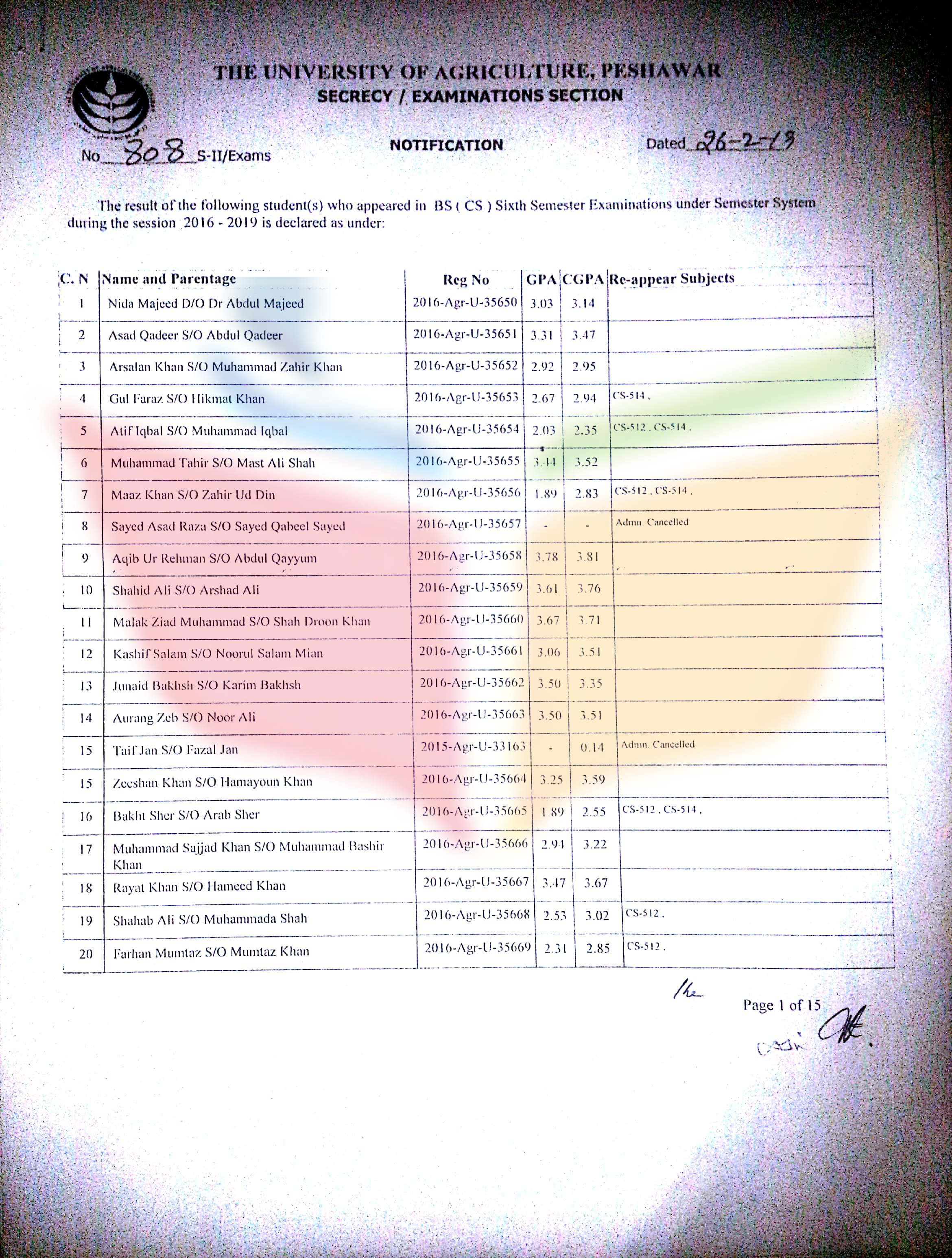 result 6th semester_1