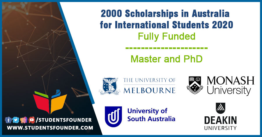 2000 Scholarships in Australia for International Students (Fully Funded)