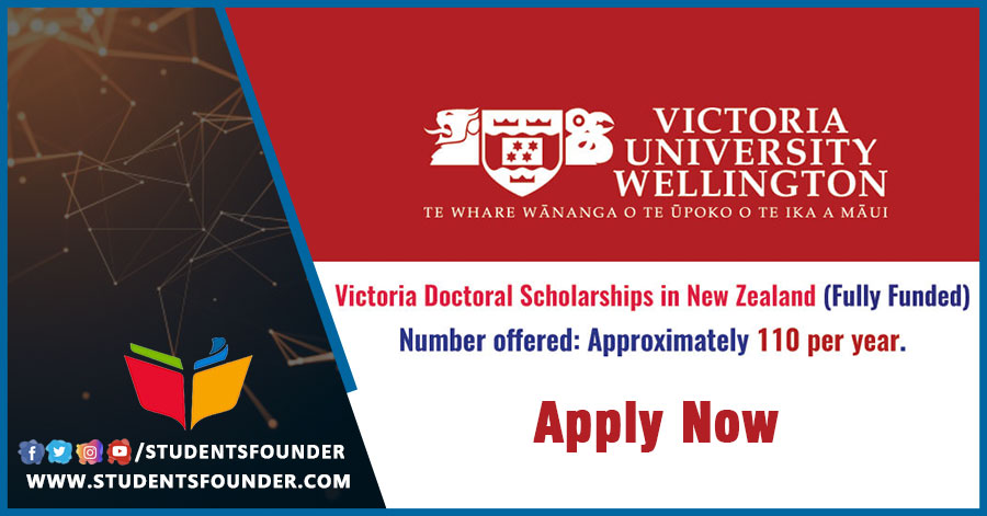 New Zealand Wellington Doctoral Scholarship   Fully Funded